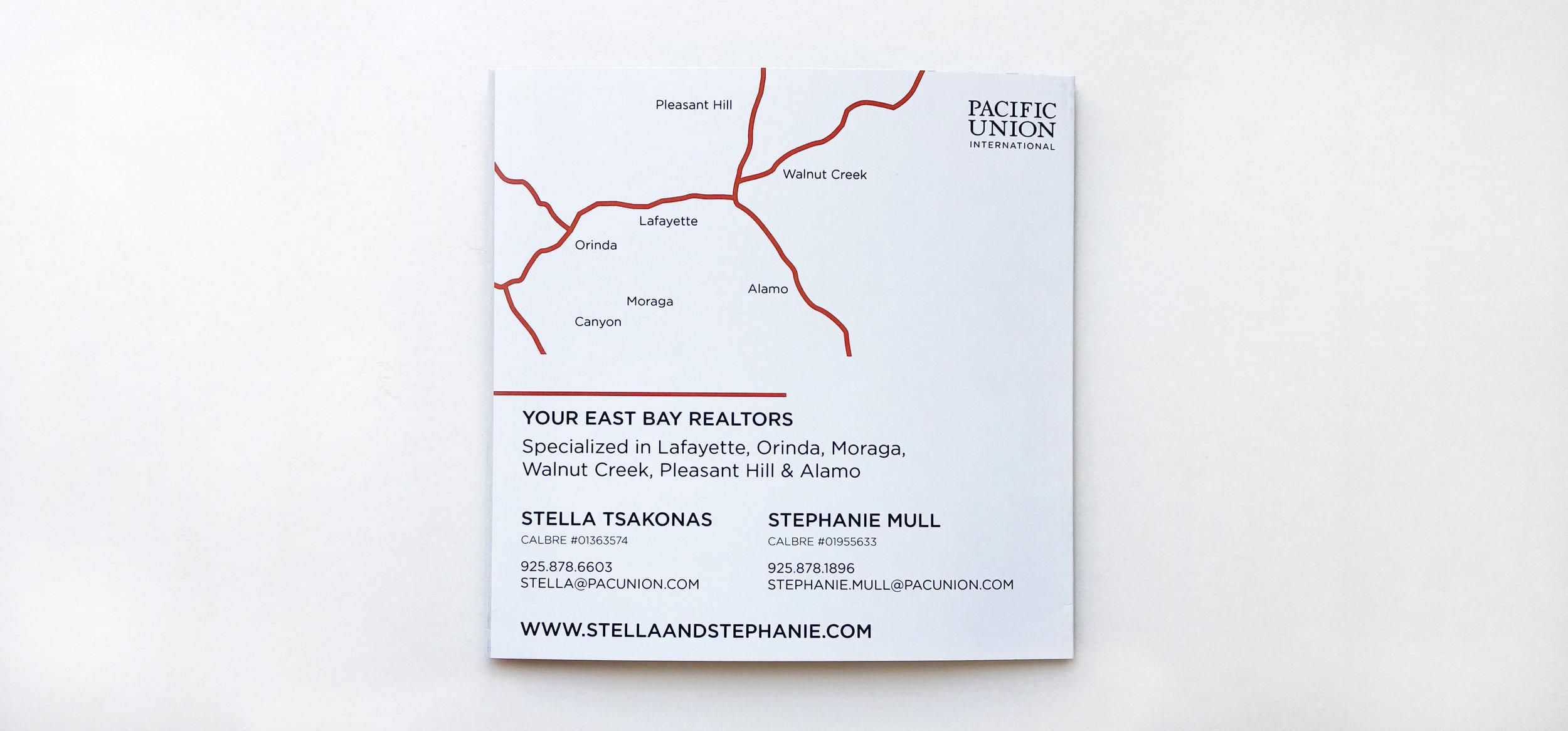 Back of Brochure Design for Stella & Stephanie Realty – KLN Design