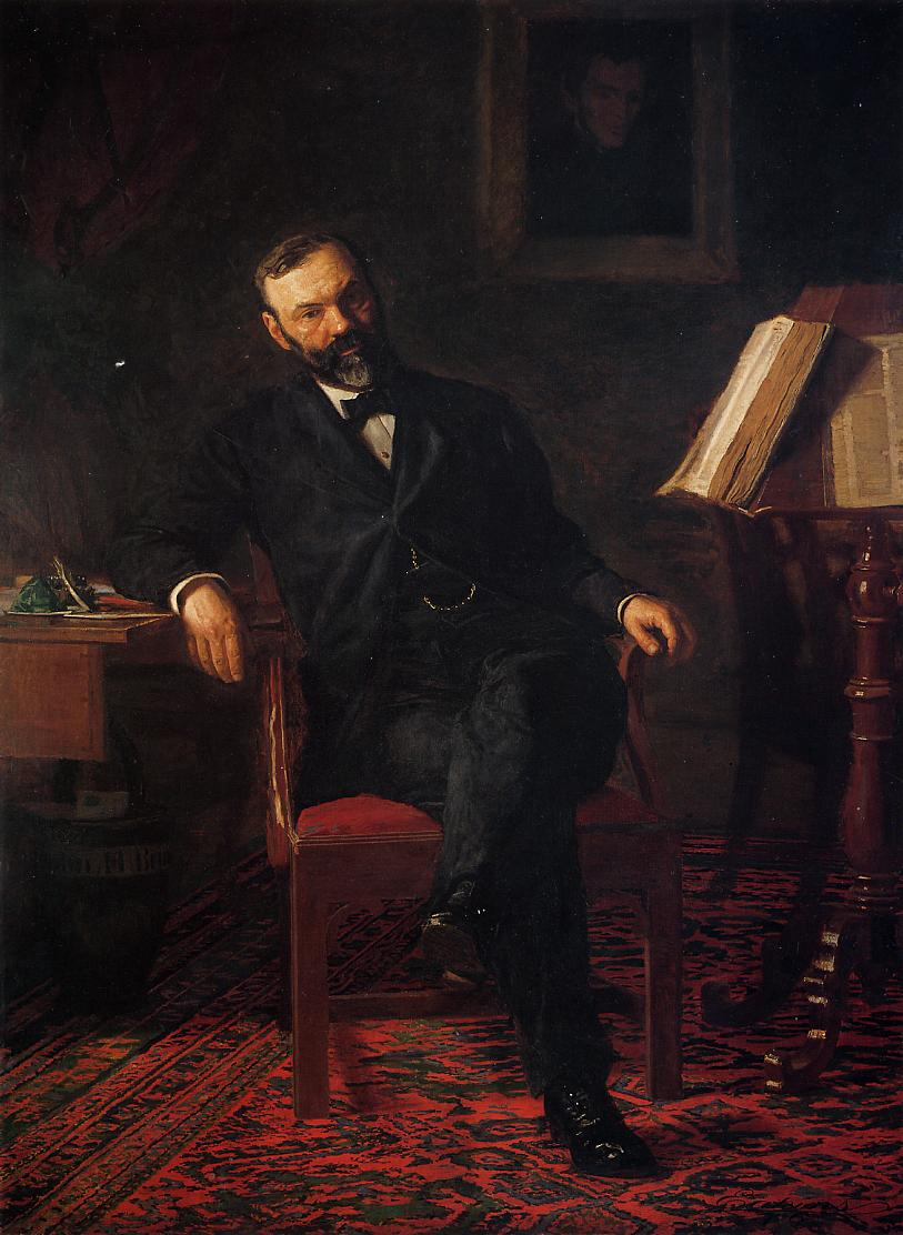 Portrait of Dr. Brinton  by Thomas Eakins, from the National Museum of Health and Medicine