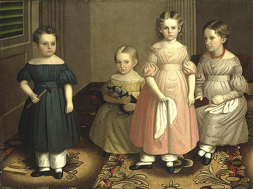 The Alling Children  by Oliver Eddy, circa 1839, from The Metropolitan Museum of Art