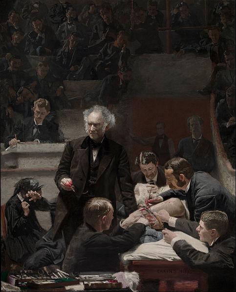 Thomas Eakins, Portrait of Dr. Samuel D. Gross (The Gross Clinic) , 1875, Oil on canvas. Philadelphia Museum of Art .