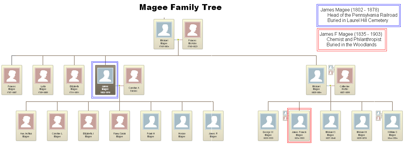Magee Family tree (prepared by Katie Breiner using Ancestry.com).