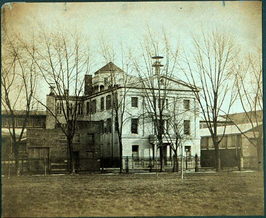 The original Central High School Building at 13th and Market. Image from the Library Company of Philadelphia.