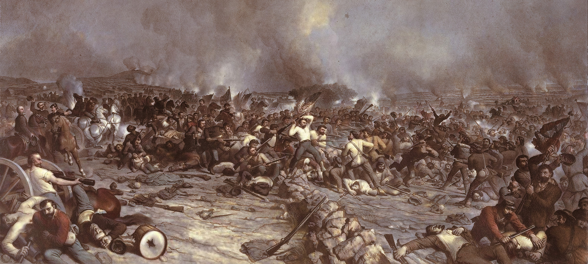 Battle of Gettysburg: Pickett's Charge  by Peter Frederick Rothermel. From the Pennsylvania Historical and Museum Commission/State Museum of Pennsylvania.