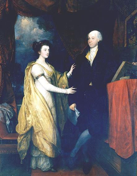 Portrait of William Hamilton and his niece Ann Hamilton Lyle. (Image: Historical Society of Pennsylvania)