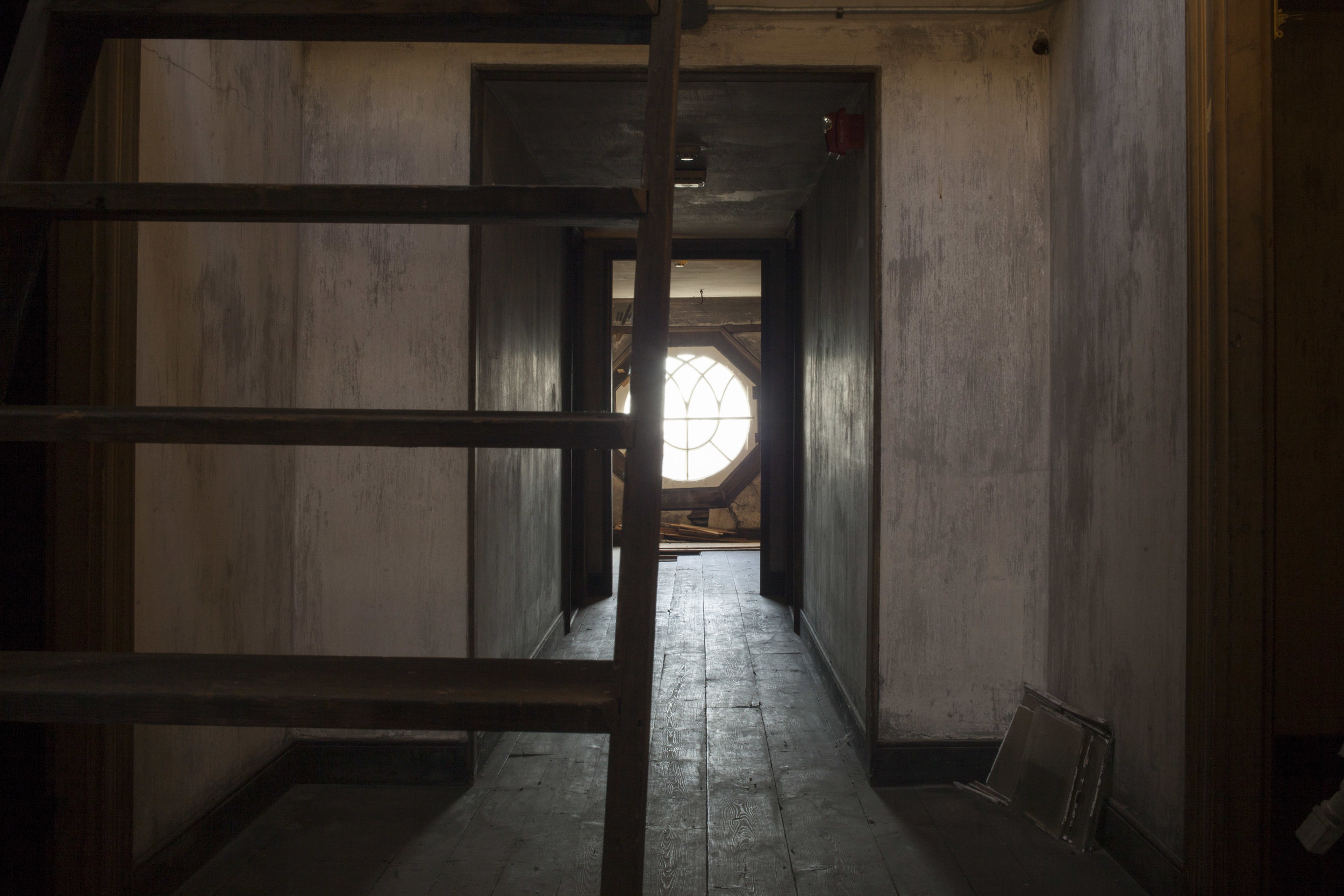 The attic, or garret, of The Woodlands Mansion. Photo: Starr Herr-Cardillo