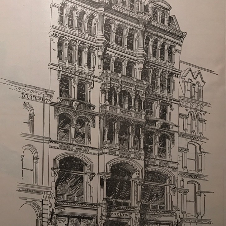 The Haseltine Gallery used to stand at 1416-18 Chestnut Street.