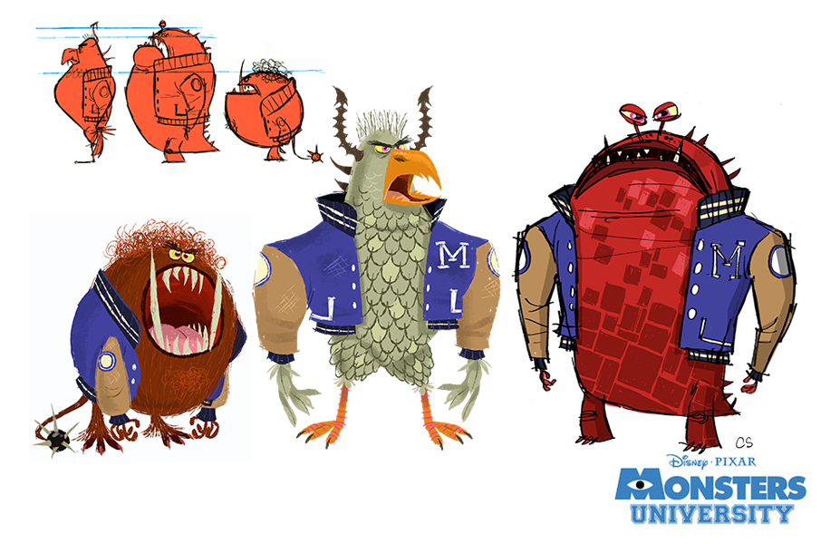 Monsters University Concept Art Rocketscience