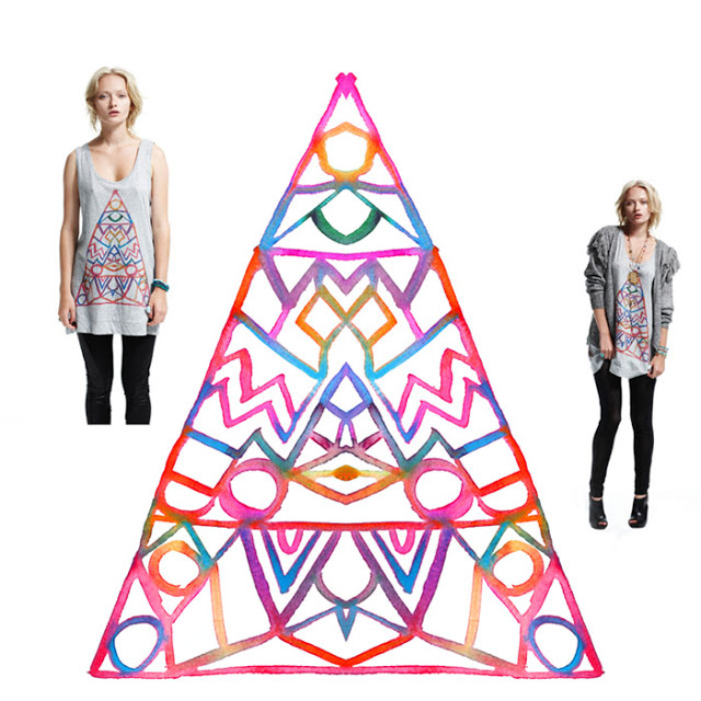 L ove Triangle  tank for Something Else, Spring 2010