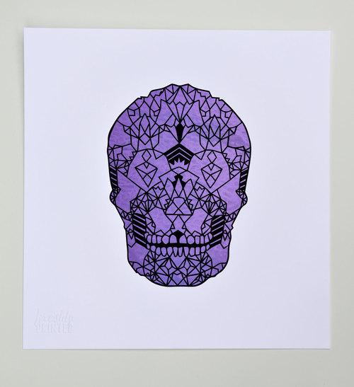 Coral Skull,  2013. Screenprint