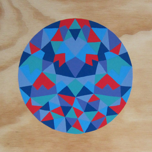One of Many Moons , 2013 Acrylic on plywood 235 x 235mm