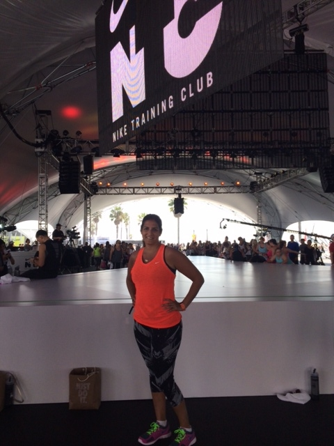 Priya, Nike fitness event, LA, March 2014