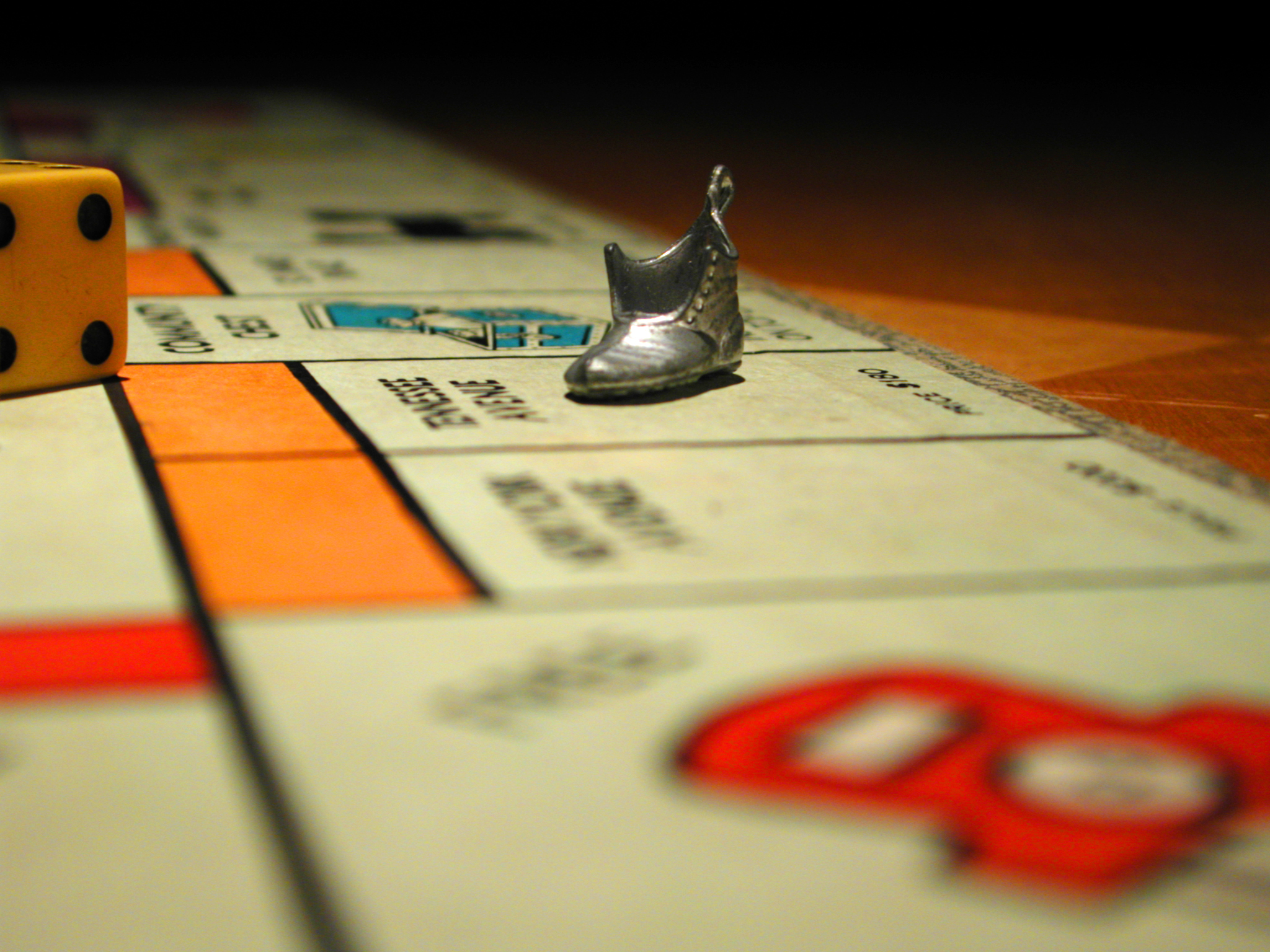The game of Monopoly. Here comes the shoe.
