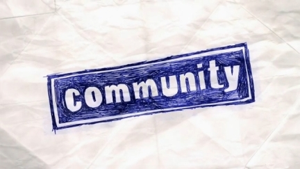 Community  title card, used under fair use for identification and critical commentary.