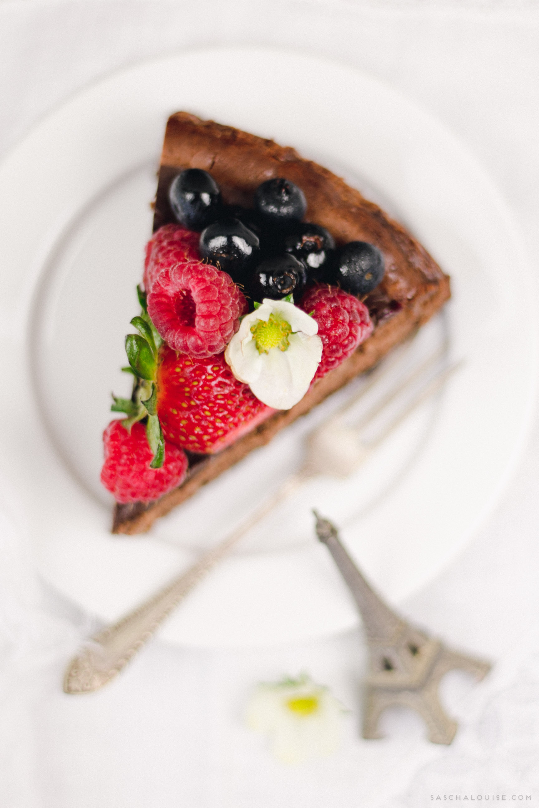 saschalouise.com - Baked Chocolate Cheesecake