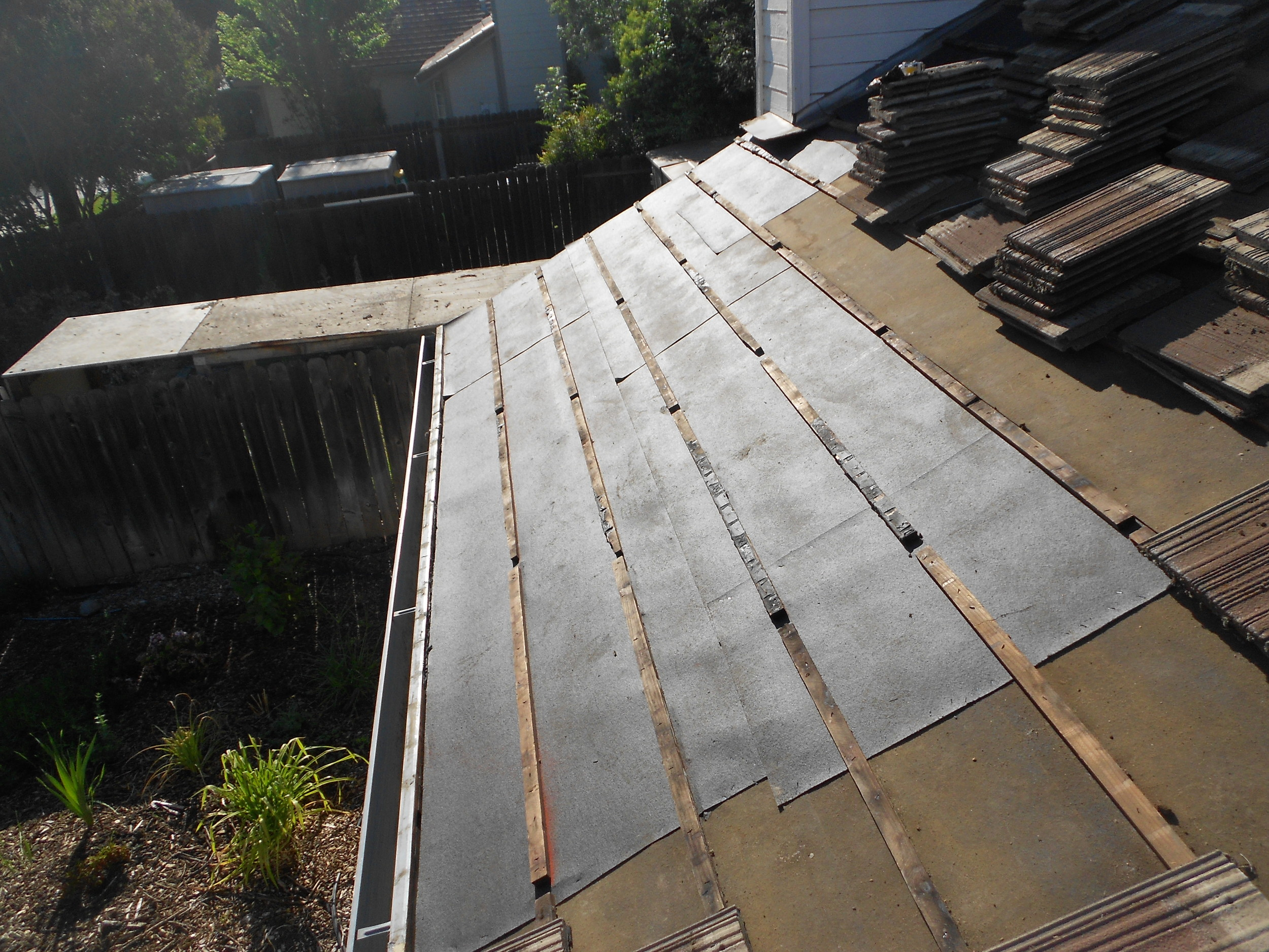 Roof Tear Off by Ved's Roofing, Yuba City, CA