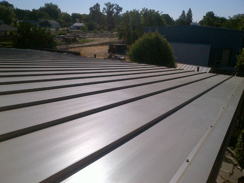 Completed Metal Roofing Project by Ved's Roofing of Yuba City, CA.