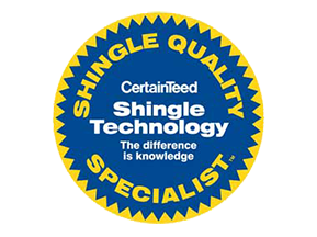 Ved's Roofing is a CertainTeed Shingle Quality Specialist.