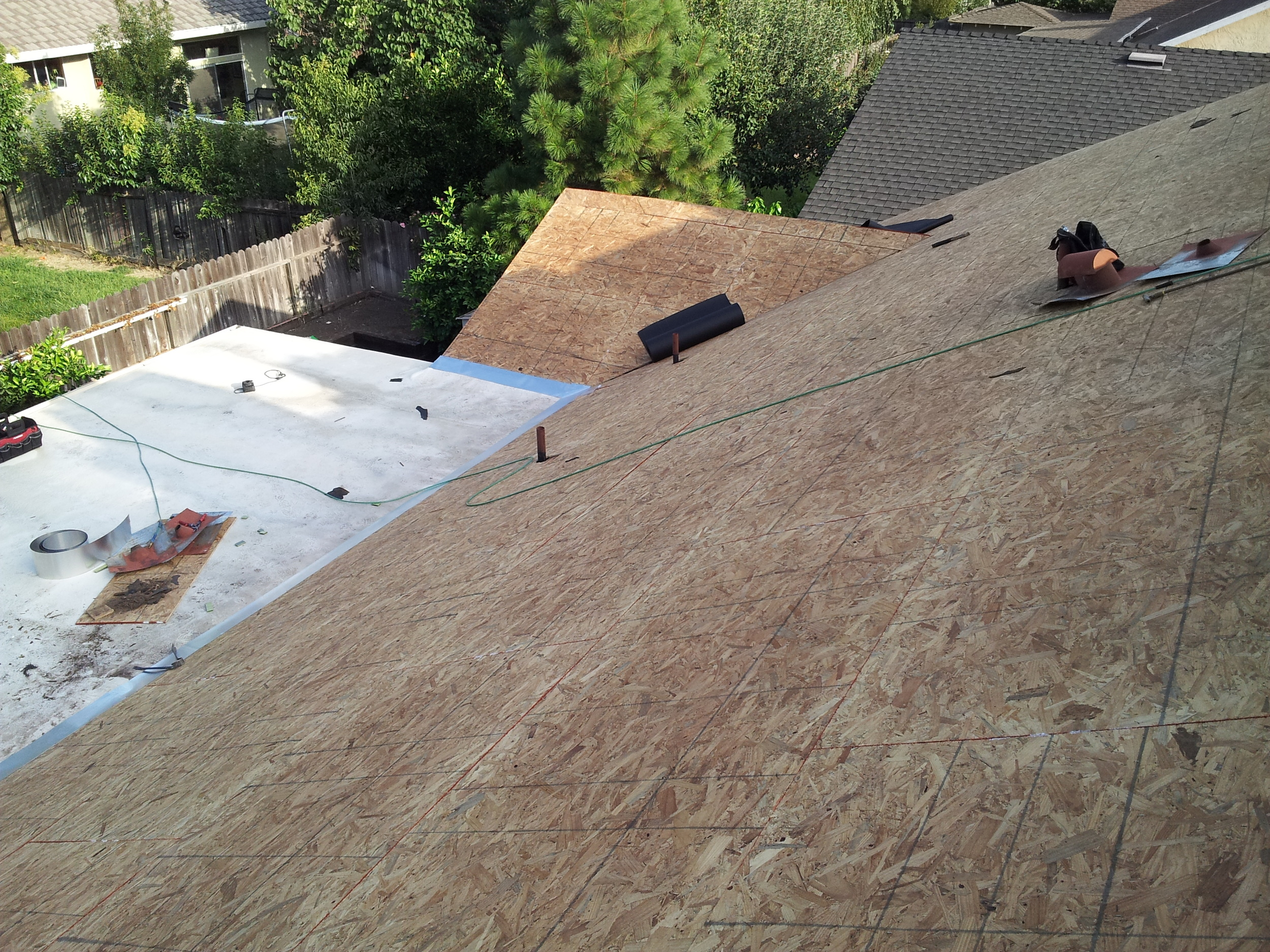 Roof tear off project by Ved's Roofing of Yuba City, CA.
