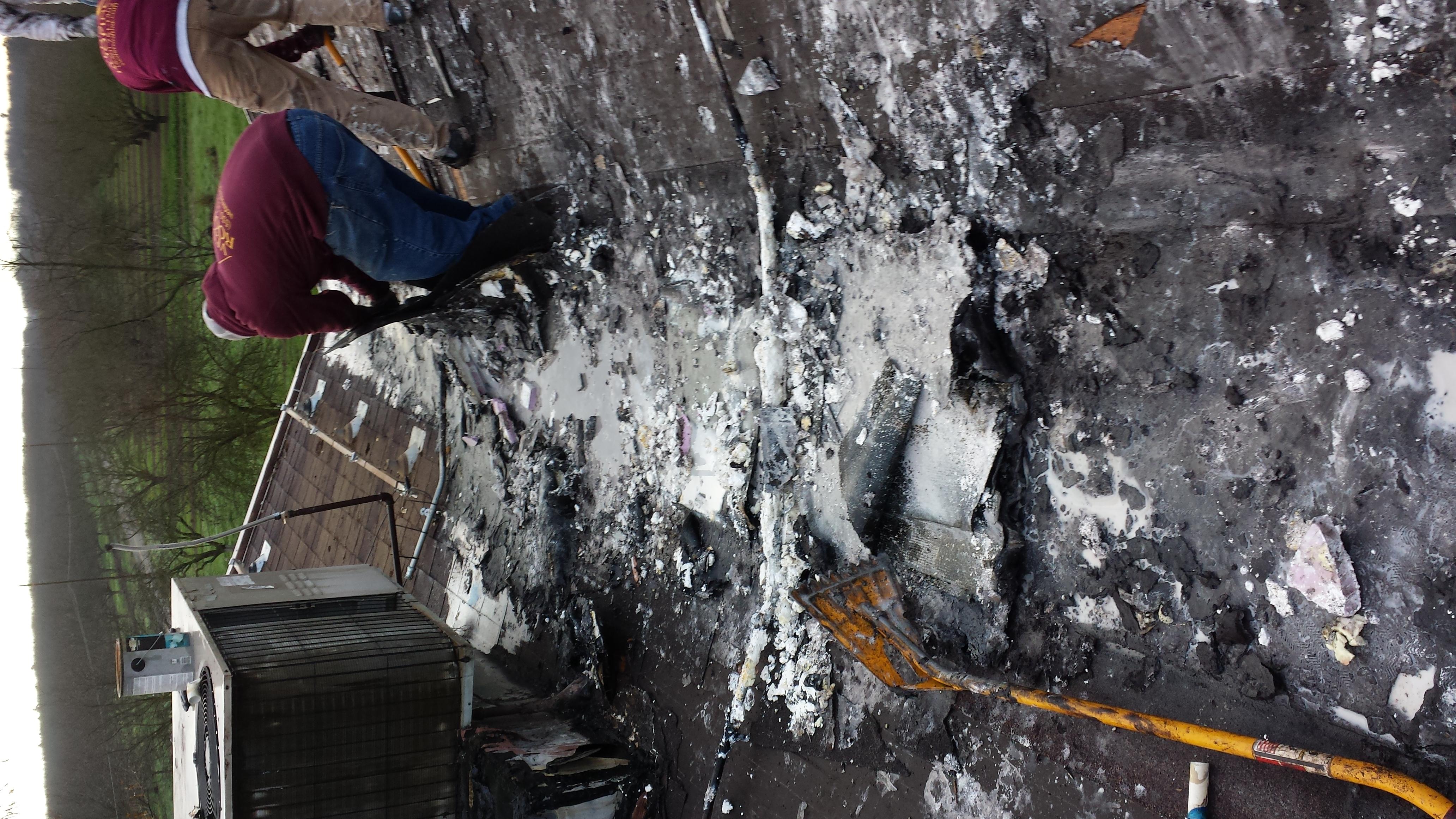 Tar Roof Repair Before