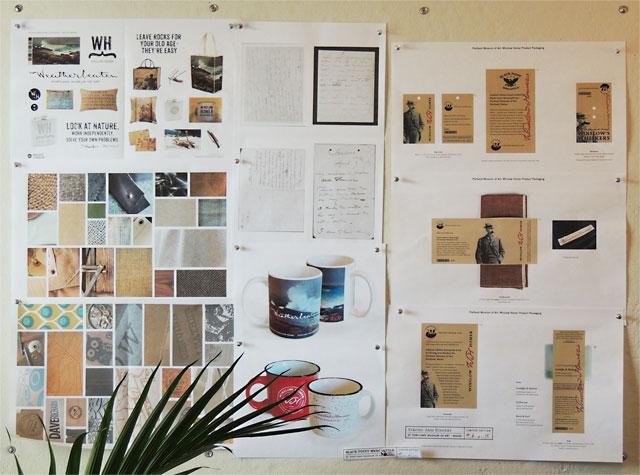 Materials, concepts, and mock-ups in progress.