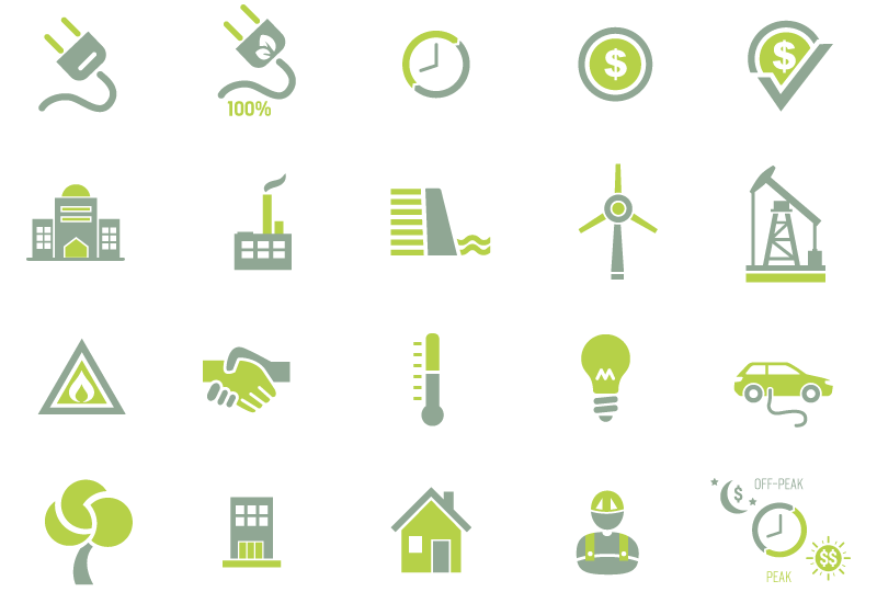Union Atlantic Electricity icons designed by brand design firm Might & Main