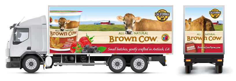 Stonyfield Farm collateral designed by brand design firm Might & Main
