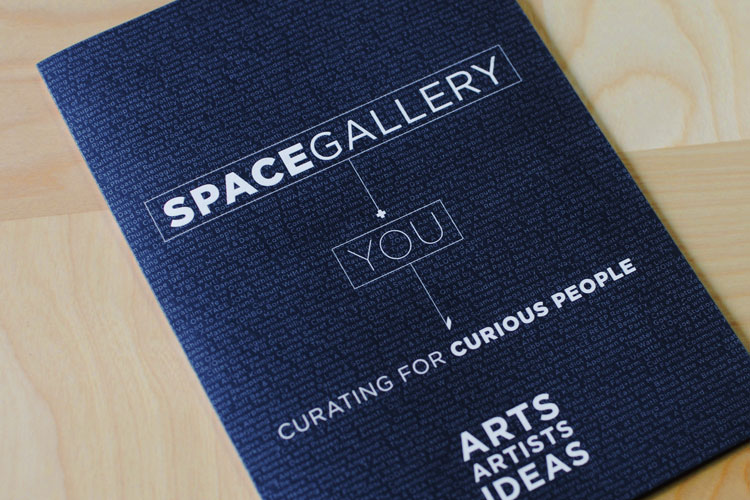 SPACE Gallery membership drive brochure design by brand design firm Might & Main