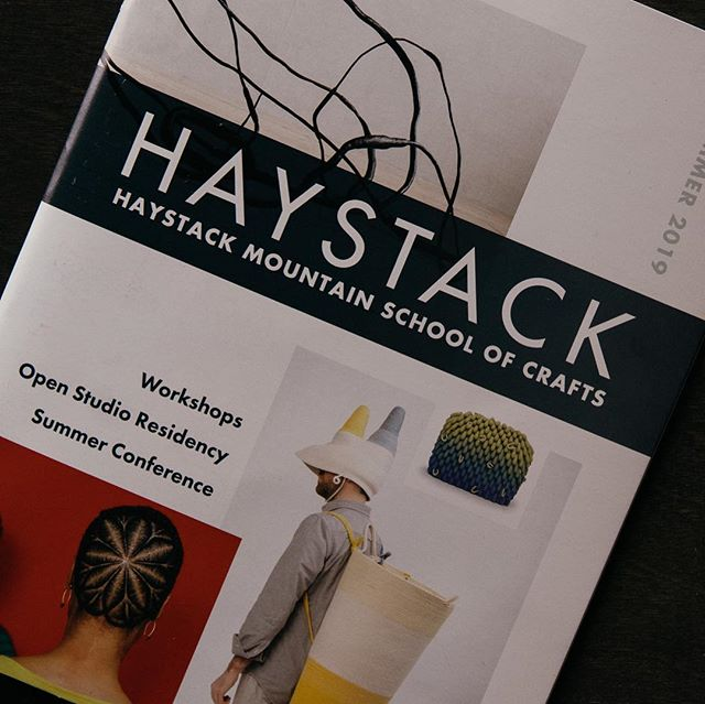 We worked with @haystack_school to redesign their annual catalog, the first of many collaborations with this inspiring institution. We're honored to help update their materials to reflect the caliber of contemporary creative thinking happening up there on Deer Isle!⠀ .⠀ #brandsmithery #design #haystack