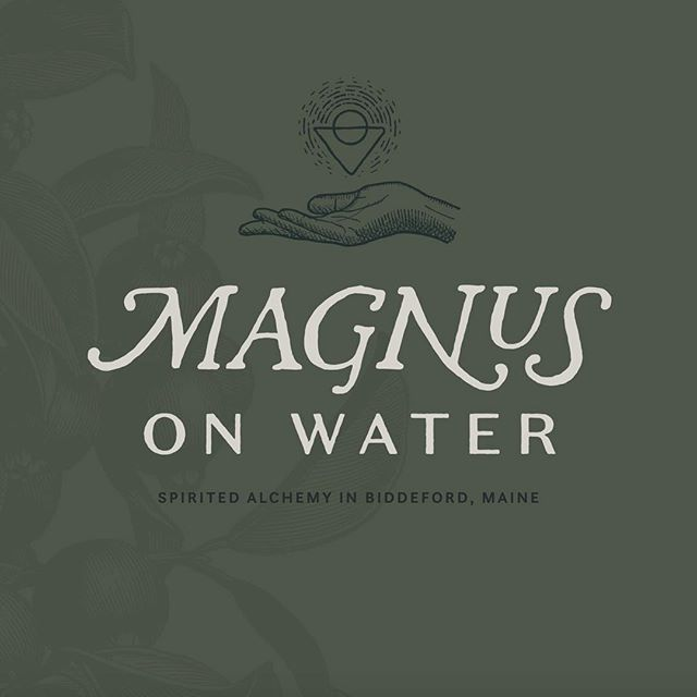 A first look at the @magnusonwater brand. A new cocktail bar in Biddeford, Maine that will serve nature-inspired drinks with locally foraged ingredients.