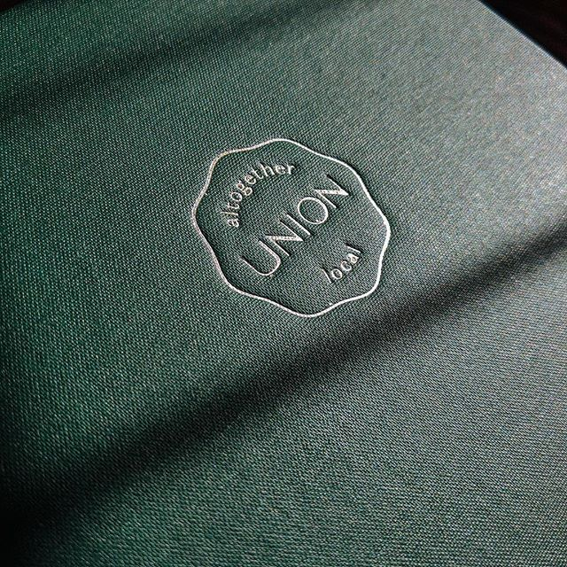 A refreshed visual identity for @unionportland at @thepresshotel, and a brand new suite of collateral. Case study coming soon.⁣⠀ .⁣⠀ #brandsmithery #portlandme #menu #hospitality