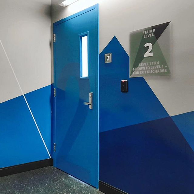 Congratulations to @wexatwork on the opening of their new global headquarters! We enjoyed working on environmental graphics for the space, like this winding and flowing design for the stairwell. Swipe to see the progression. ➡️⁣⠀ .⁣⠀ #brandsmithery #environmentalgraphics