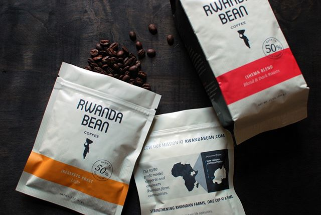 Congratulations on one year in your Deering Center location @rwandabeancompany! It's been great to watch you grow 🌱⁣ .⁣ #brandsmithery #packaging #coffee #portlandmaine