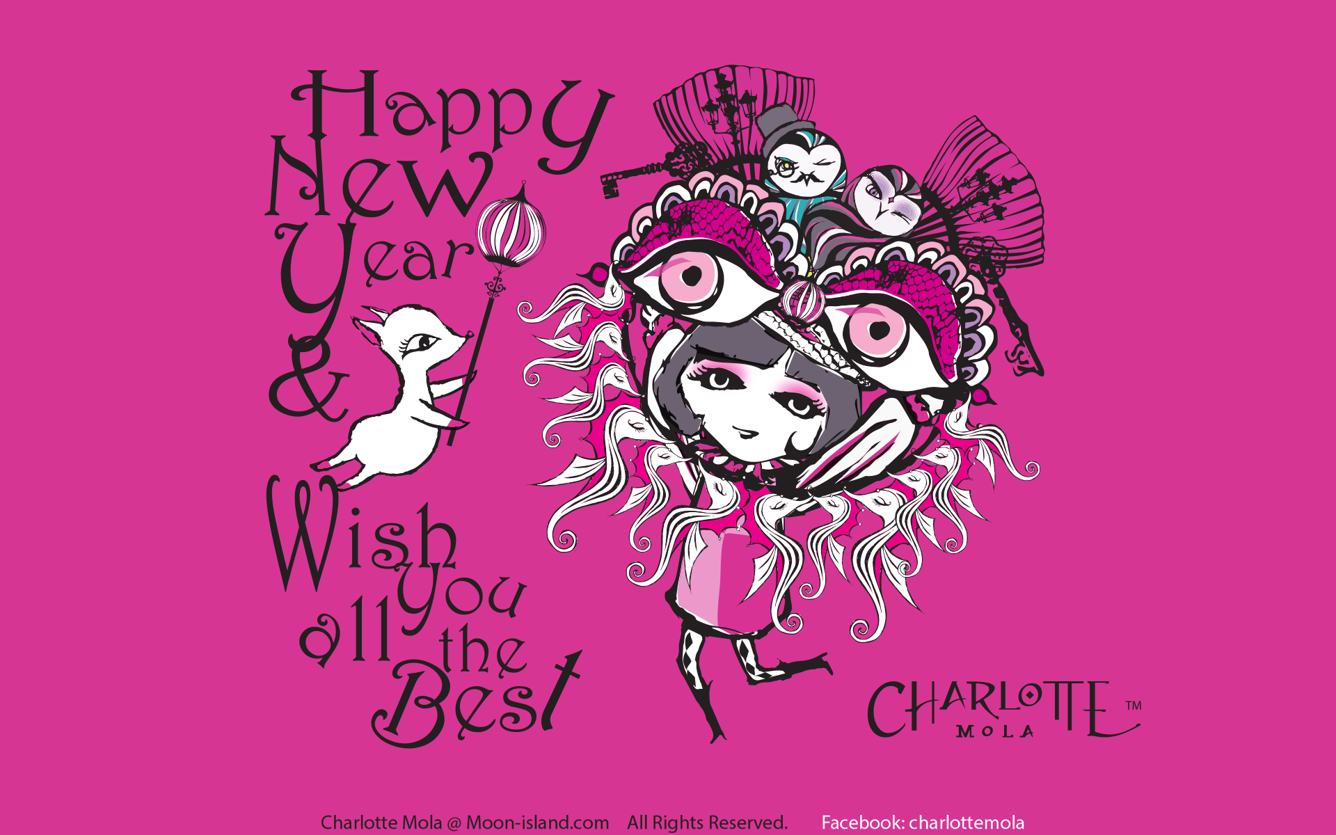 #  0019,  Seasonal- Chinese New Year  Moon-Island 裹居住的朋友都知道東方新年快到! 東方人喜歡以紅色作主色去歡度新年,結果島上所有紅色居  民都集合一起, 打算仿效新年中的一個活動去祝福別人。。。