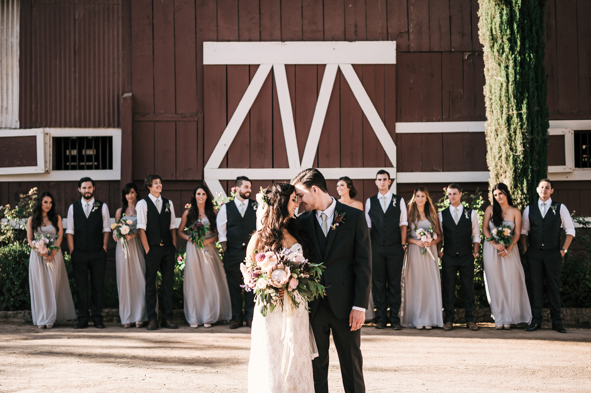 Rustic wedding photos at the Quail Haven Farms in Vista California.
