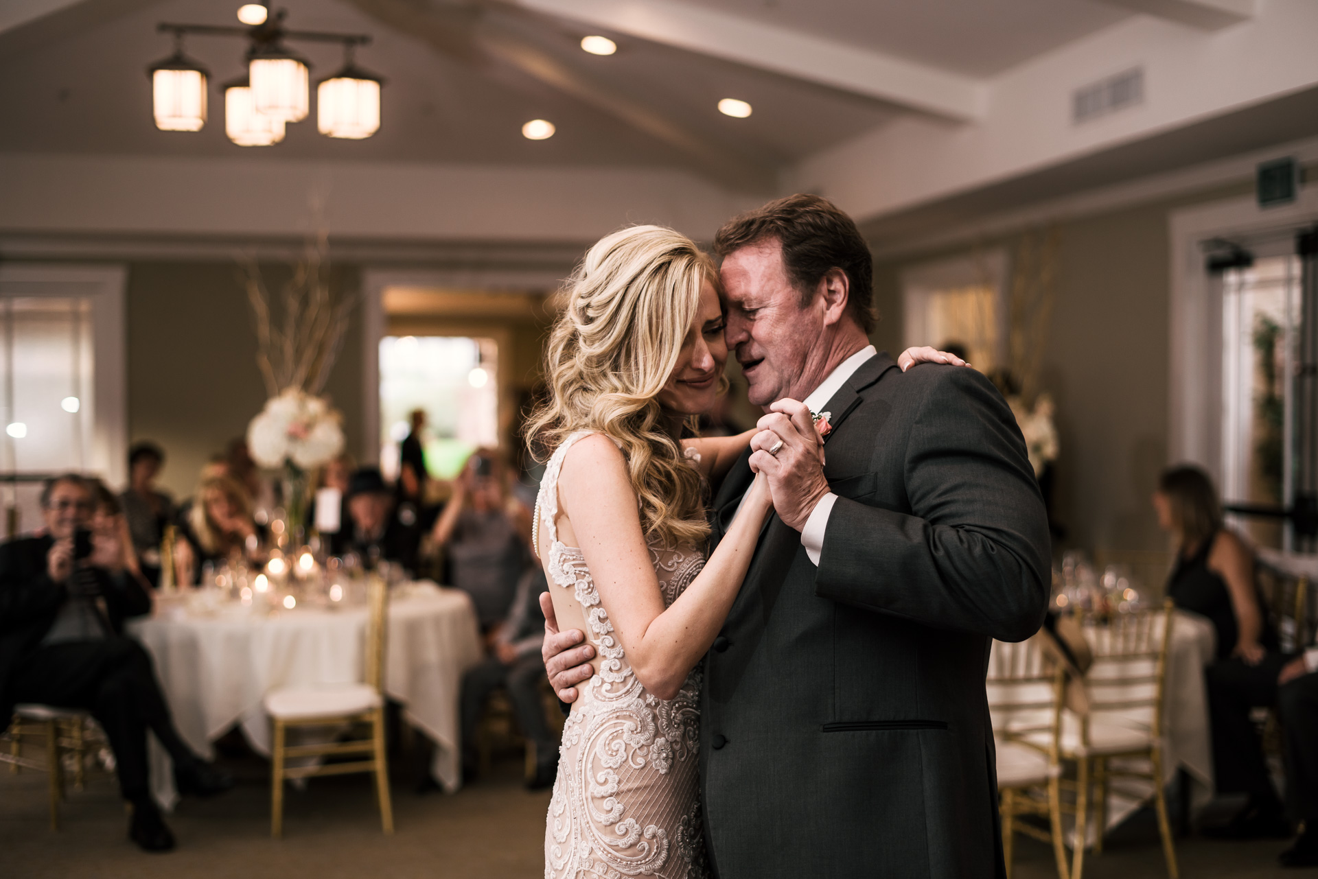 sweet father daughter dance at the Twin Oaks Golf Course in San Marcos, San Diegos premier wedding venue