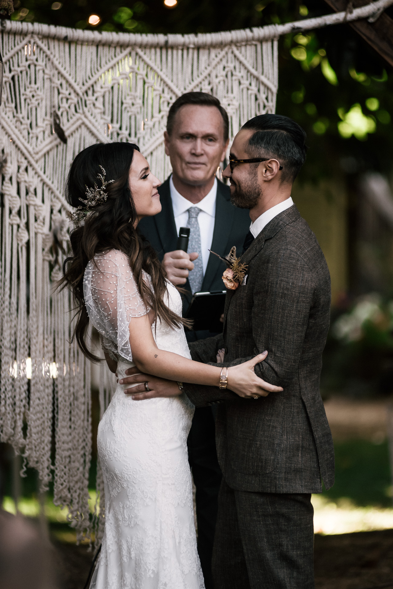 newly weds shot by wedding photographer at the charming St. George Hotel in Volcano California