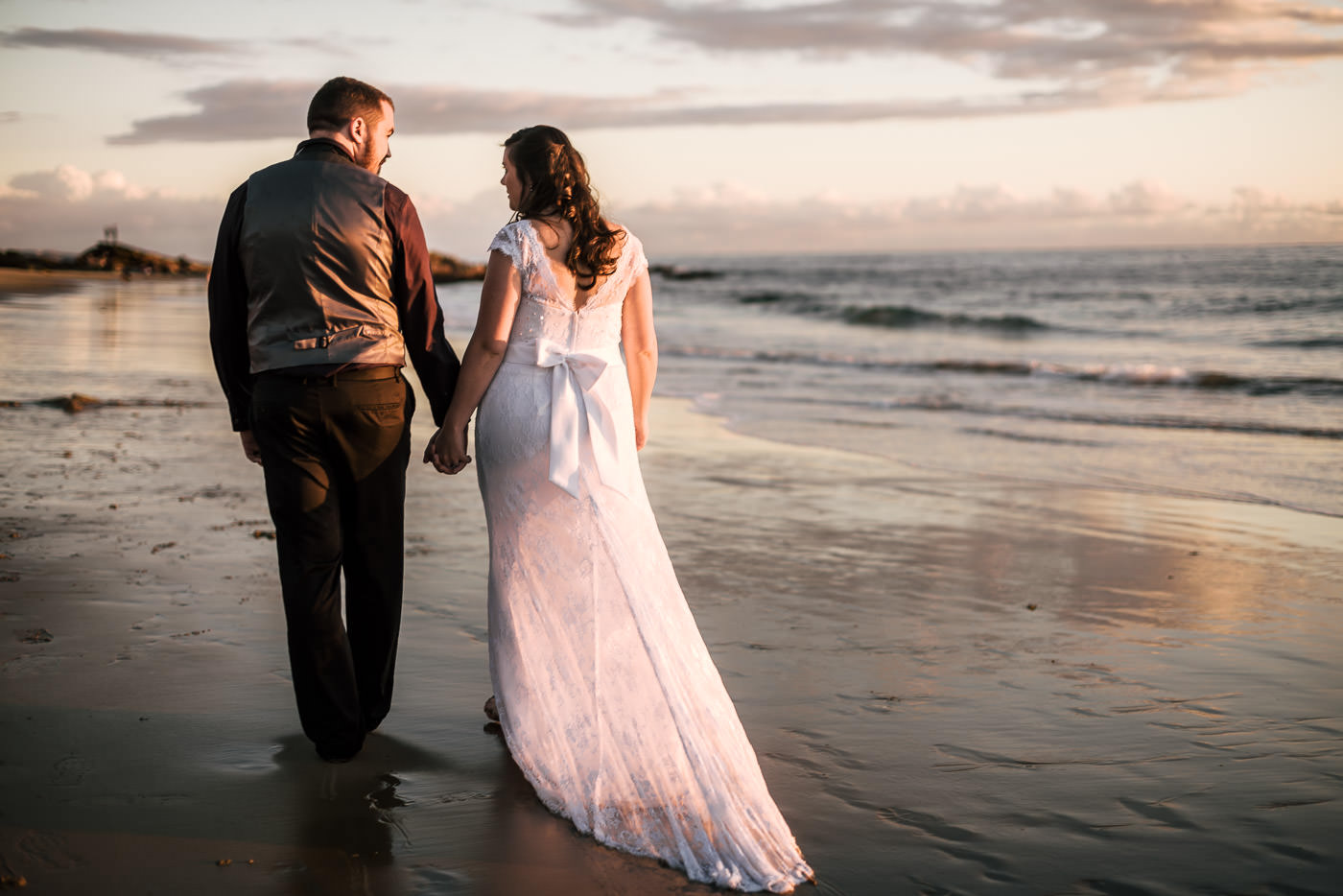 ...The more wonderfully romantic elopement photographs you'll get. And look at that gorgeous light! This is why sunset is always the best time for photographs.