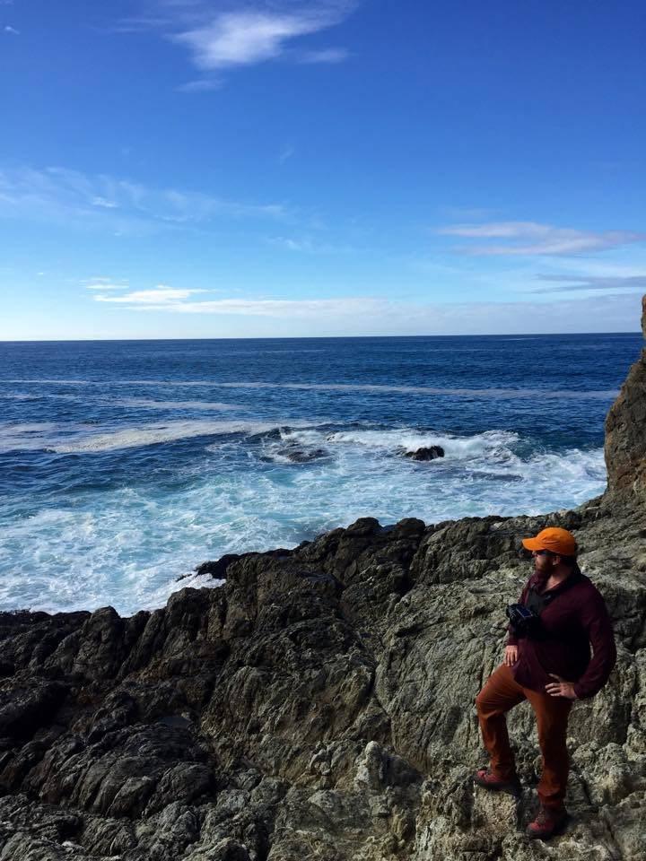 Scrambling along the coast in Big Sur