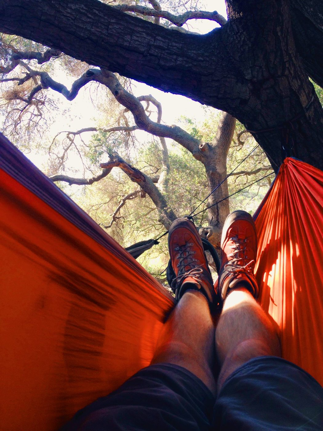 Hammock time after a hike