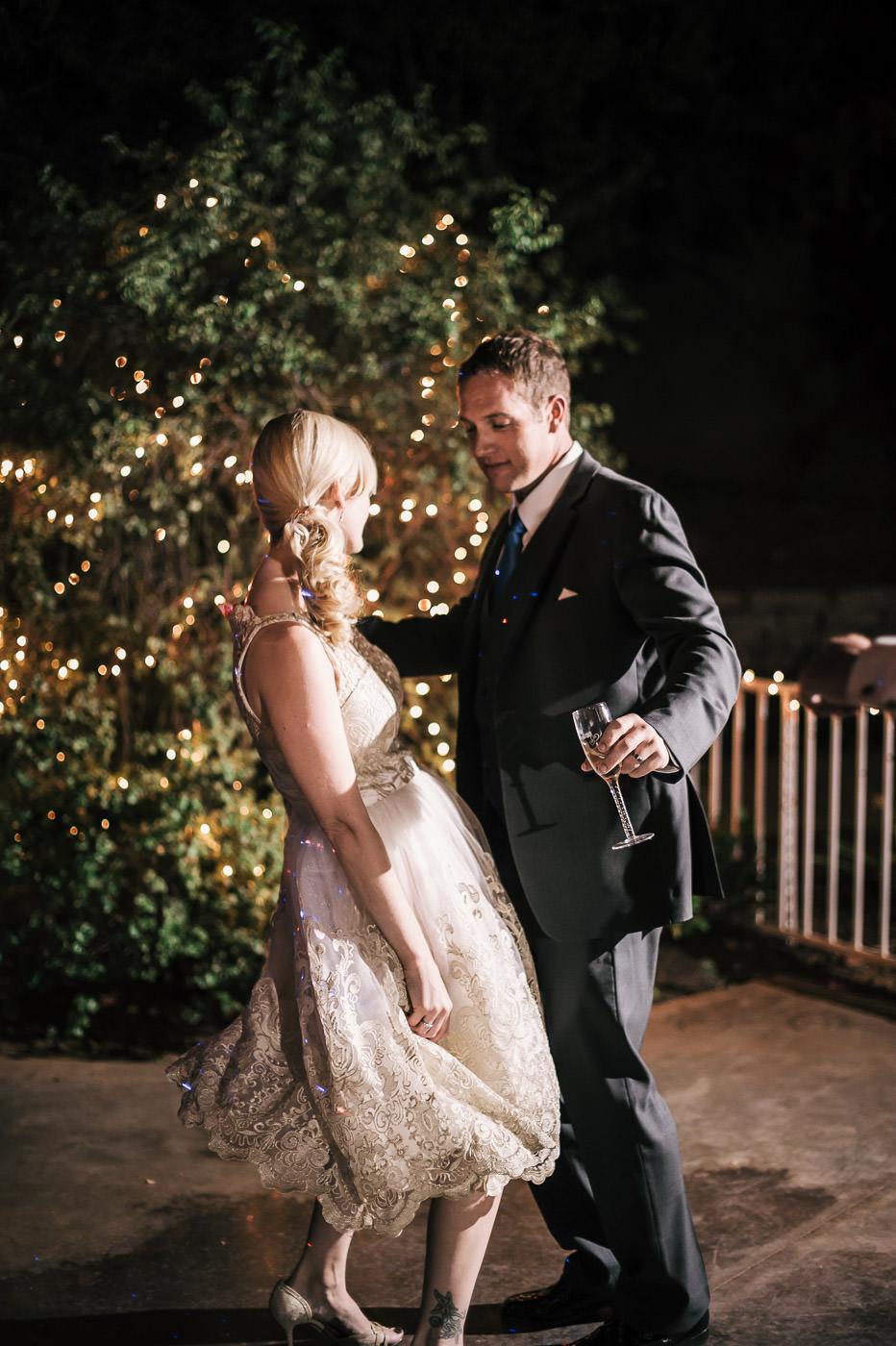newlyweds tear up the dance floor at their wedding reception