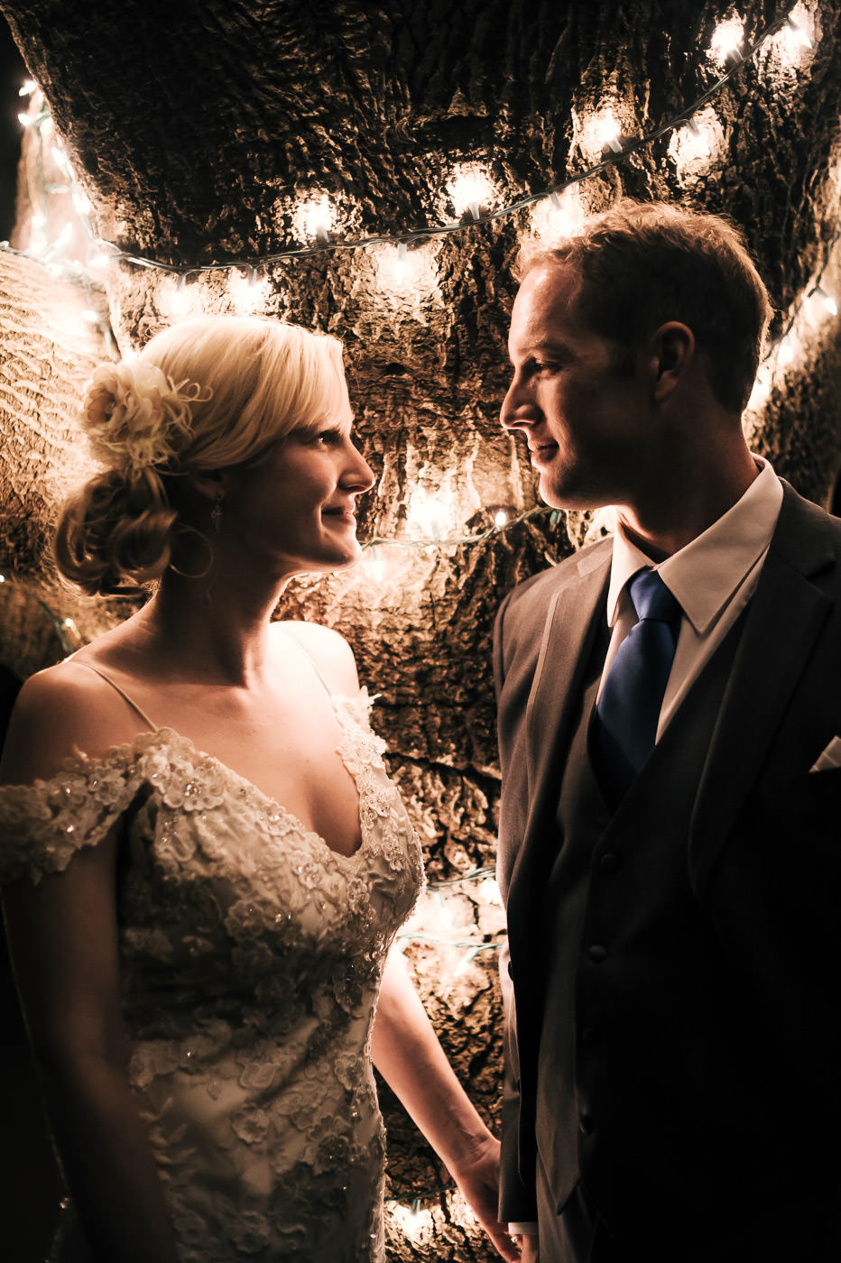 wedding photographer captures romantic moment between bride and groom in temecula california