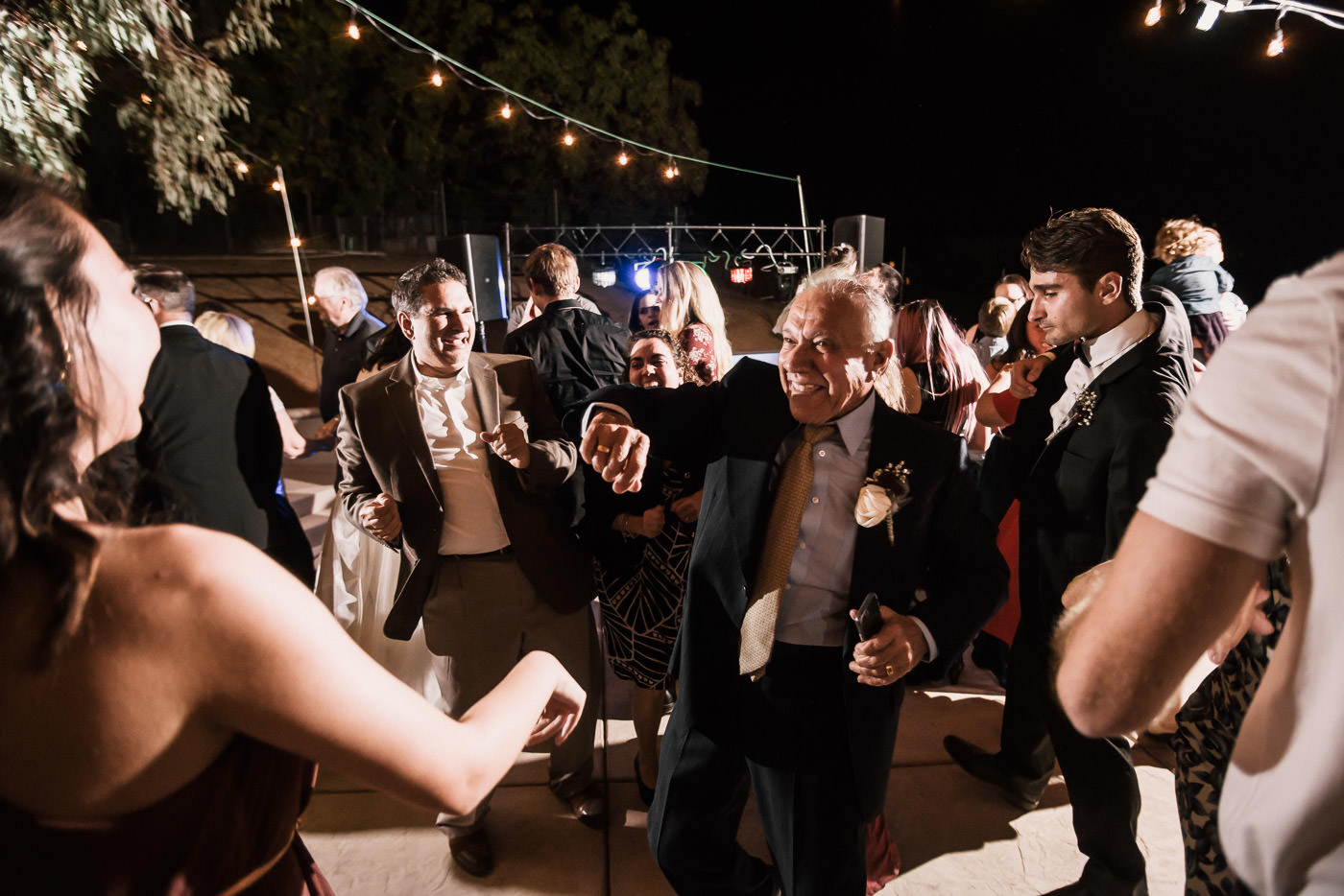 Grandpa gets his grove on at this Temecula wedding recepetion.