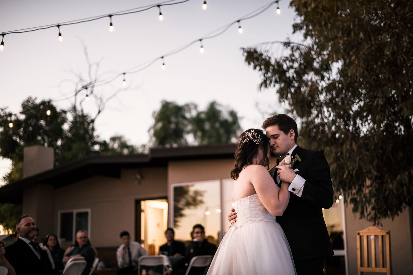 Romantic first dance at this backyard wedding in the Temecula Wine Country.
