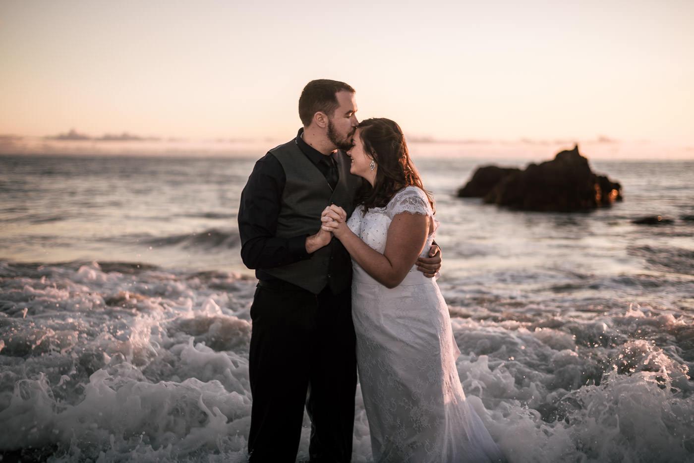 Romantic wedding photography in Laguna Beach.