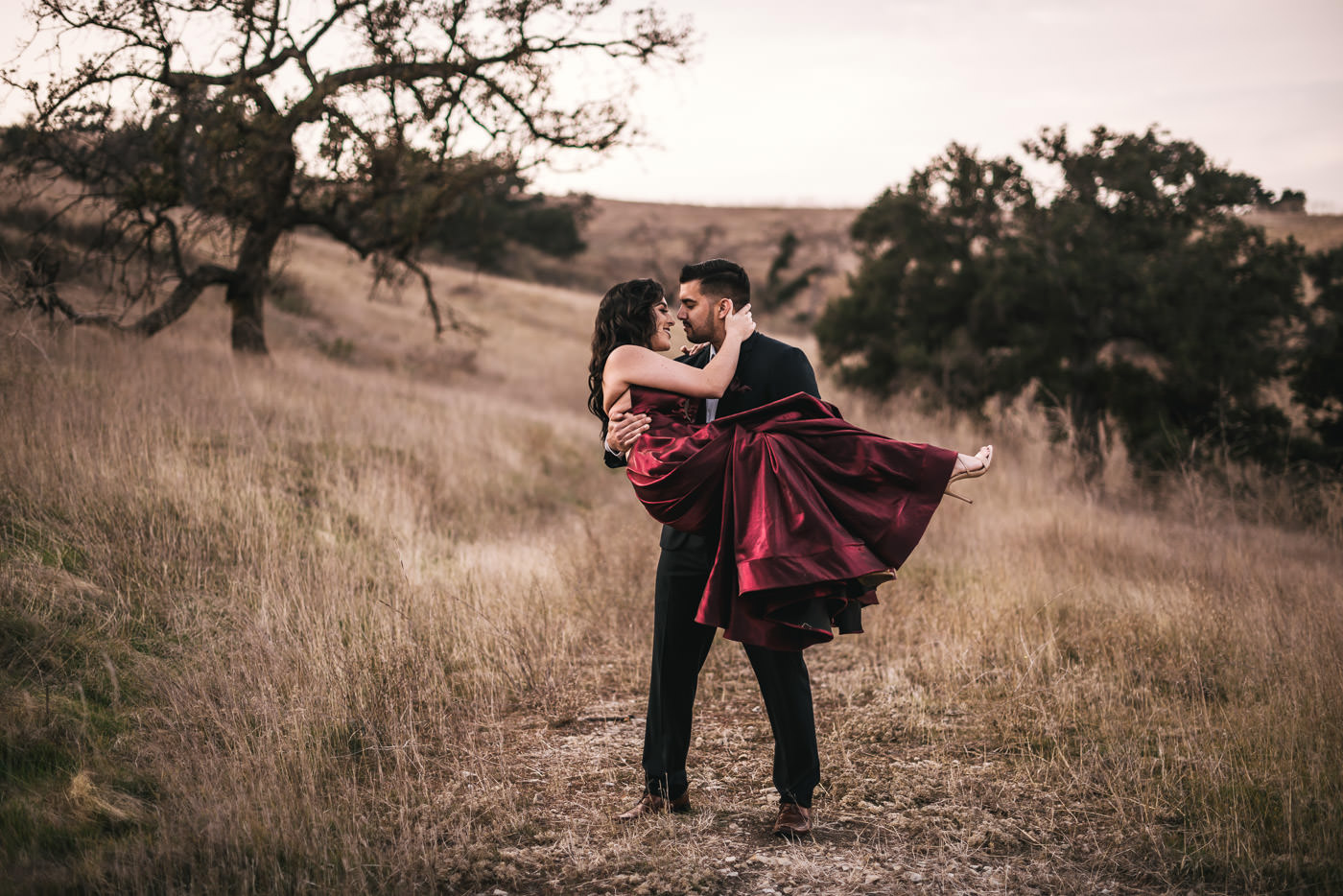 Romantic engagement photography in Malibu California