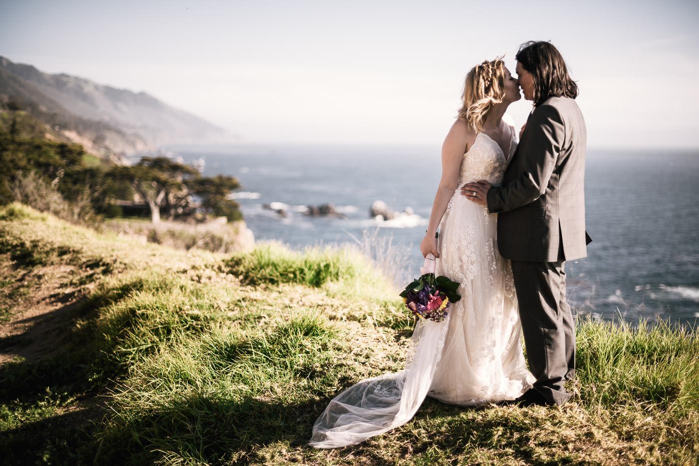 Wedding photographer near Big Sur California.