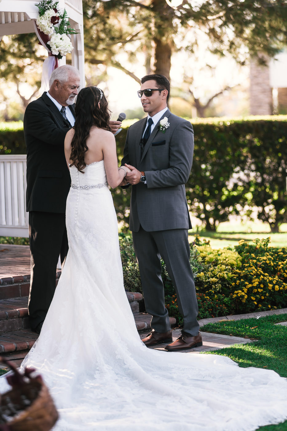 handsome groom says I do to tie the knot at their Alta Vista Wedding.