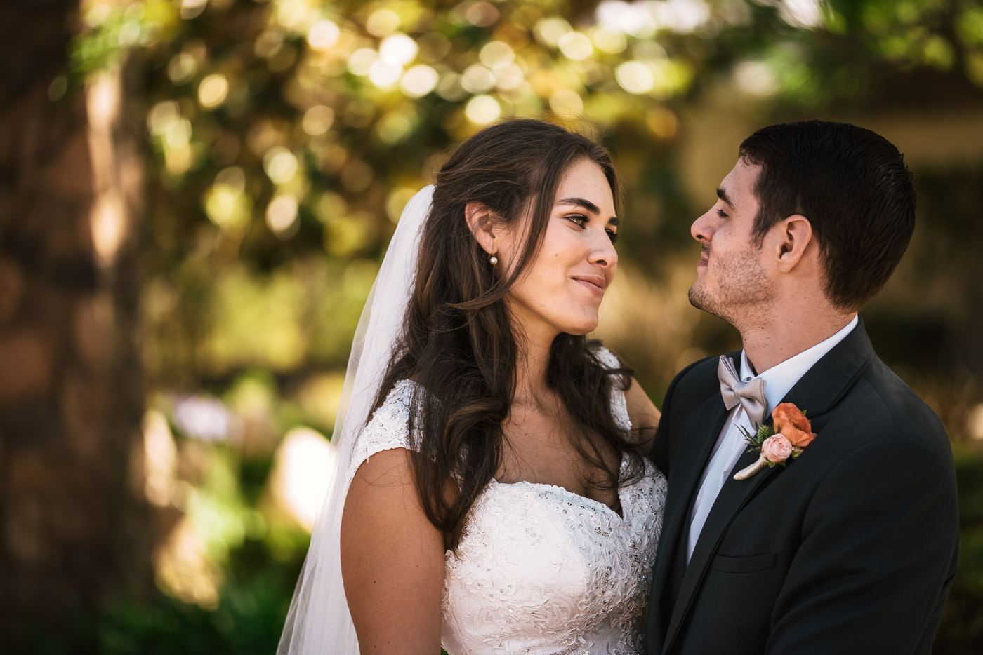 San Diego wedding photographer captures a beautiful portrait of a couple.