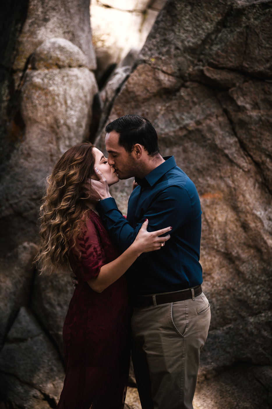 Wild and romantic engagment session in the mountains.