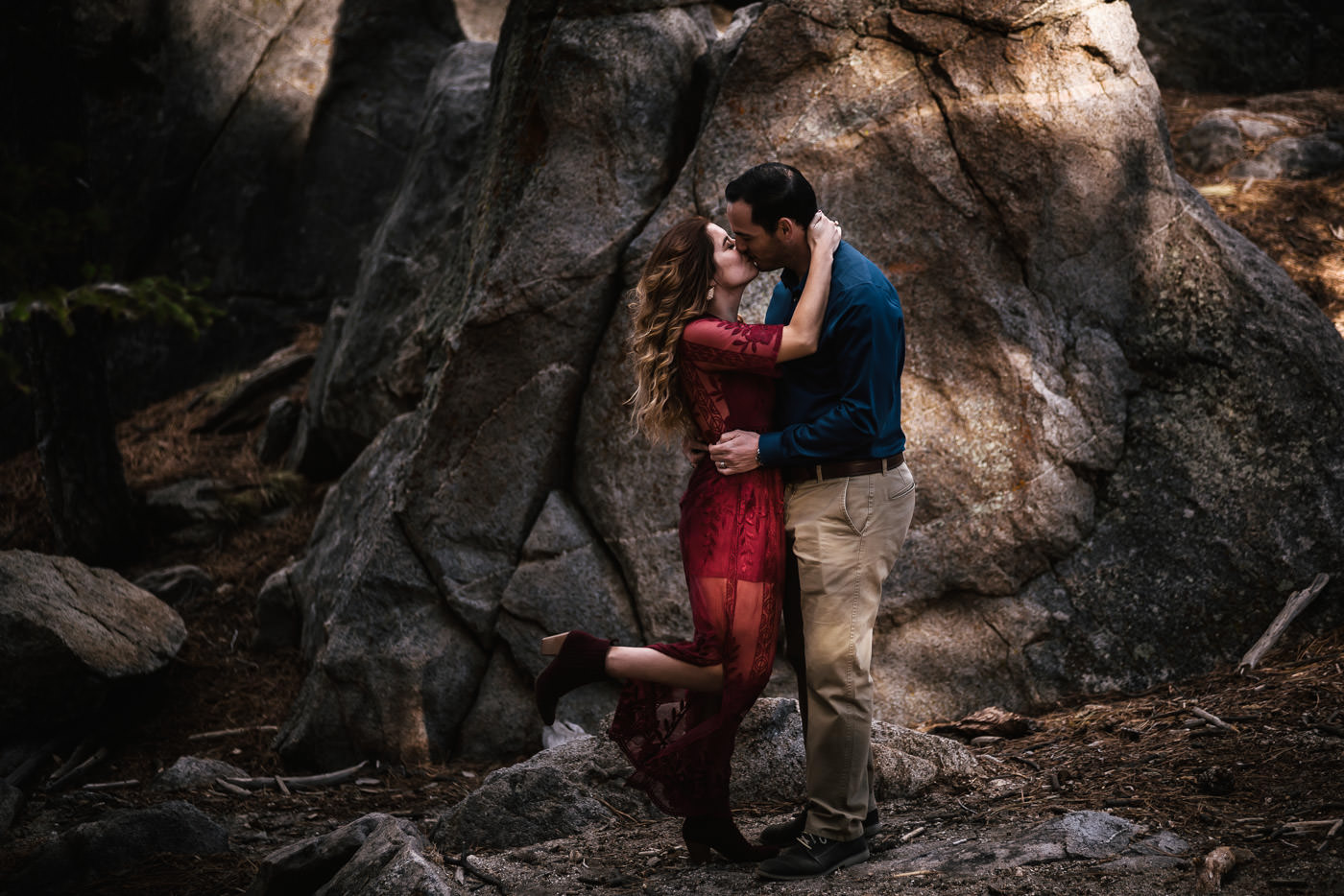 Wilderness engagements for adventurous couples.